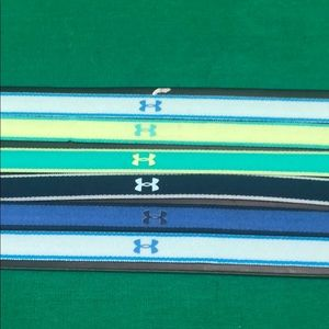 Under armour 6 pack elastic head bands